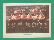 FOOTBALL - SHERMAN'S POOLS - POSTCARD SIZED FOOTBALL CARD  - BRENTFORD - 1938