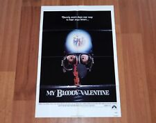 ORIGINAL MOVIE POSTER MY BLOODY VALENTINE 1981 FOLDED ONE SHEET HORROR