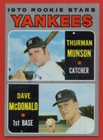 1970 Topps #189 Thurman Munson EX CREASE WAX STAIN Rookie RC New York Yankees