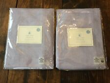Pottery Barn Kids Linen Sheer Drapes Set (2) NWT Lavender Purple 44x96