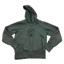 Etnies Full Zip Hoodie Mens Gray Sweater Size Medium Adult Hooded Sweatshirt M