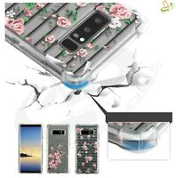 Samsung Galxy Note 8 Flowers Hybrid Rubber TPU Bumper Hard Case Protective Cover