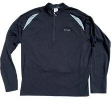 Sugoi Long Sleeve Cycling Jersey Shirt Athletic Black Back Pocket Mens Sz XXL