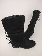 NEW! Skechers Youth Girl's Mad Sass High Spirit Slouch Boots Blk #87695L 201N cc