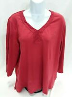 Women's XX-Large Red Charter Club Knit Top