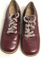 Fantastic Red Leather Children's Shoes 12 1/2 E USA Made Mary Jane Girls Youth