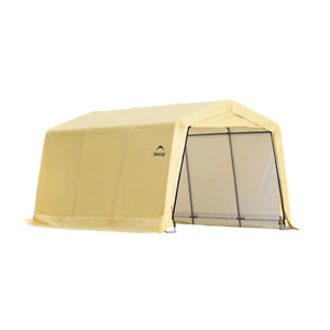 PE Garage ShelterLogic without Floor Patented Stabilizers ShelterLock Tightening