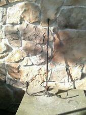 Antique Japanned Copper Two Arm Light Ceiling Fixture Victorian