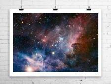 Carina Nebula Hubble Deep Space Image Rolled Canvas Giclee 34x24 in.
