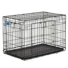 """Top Paw Double-Door Folding Dog Crate - 36""""L x 23""""W x 25""""H - Large"""