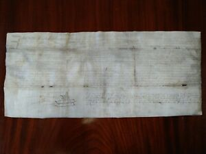 Vellum document in English clearly dated 1684 reign of Charles II