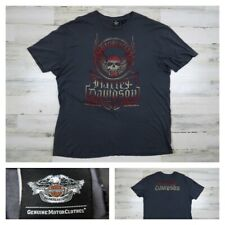 Harley Davidson Mens 2XL Willie G Skull Gray Short Sleeve Shovelhead XXL New