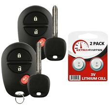 2 New Replacement Keyless Entry 3B Remote Car Fob + Key For Toyota GQ43VT20T