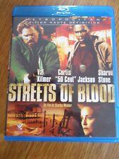 BLU-RAY * Streets of Blood * Val Kilmer Sharon Stone 50 Cent Jackson bluray