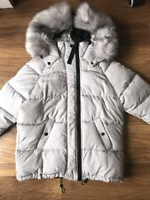 Ladies Size Xs Uk 8-10 River Island Grey Quilted Padded Puffer Jacket Coat Bnwt