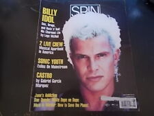 Billy Idol, Sonic Youth, Partridge Family - Spin Magazine 1990