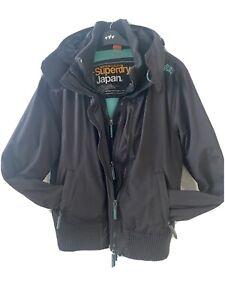 Women Ladies Superdry The Windbomber Blue Jacket Size L Fit Uk 12