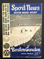 1966 Boston Garden Boston Bruins vs Toronto Maple Leafs Hockey Program NHL