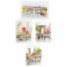 Urbain HUCHET Lot of 4 SIGNED Original French Lithographs