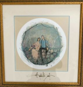 """P Buckley Moss """"OUR ANNIVERSARY"""", Framed At Moss Gallery, 2002 RARE"""