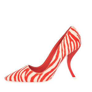 RRP €510 ROGER VIVIER Calf Hair Court Shoes EU 35.5 UK 2.5 US 5.5 Made in Italy