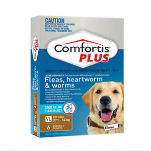 Comfortis Plus Brown for Extra Large Dogs 27.1-54kg Worms Heartworm Fleas
