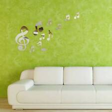 Musical Notes Music Art Mirror Wall Sticker Decal Acrylic Plastic Home Decor