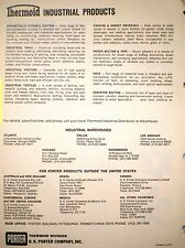 H K PORTER Co THERMOID Industrial Products ASBESTOS '71