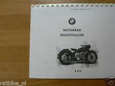 B0253 BMW---ERSATZTEILLISTE 2 ZYLINDER MASCHINEN---R51/2-MODEL
