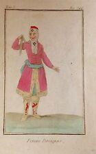 IRAN  / IRÁN.  Femme Persienne. Grabado original en color, 1788.