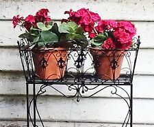 French country  PLANTER PLANT STAND large black  new