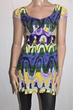 Hot & Delicious Brand Purple Lime Short Sleeve Day Dress Size S BNWT #TG63