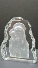 "Madonna & Child Clear Glass Frosted 7"" Figurine Paperweight Figurine"