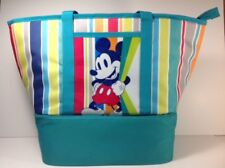 Mickey Mouse Tote Beach Picnic Lunch Bag Insulated Zip Cooler Disney Store Green