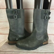 Sorel Major Pull on Leather and Suede Mid Calf Boots Sz 10 US 41 EU