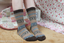 2 Pairs Women Warm Winter Thick wool mixture ANGORA Cashmere Casual Socks sale A