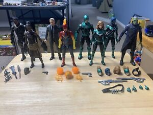 Marvel Legends MCU - Black Panther / Captain Marvel - Lot Of 8 Figures - USED