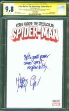 Peter Parker Spectacular Spider Man 1 CGC 2XSS 9.8 Sketch Ed Great power remark