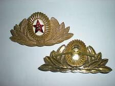 ORIGINAL SOVIET ARMY METAL OFFICER CAP BADGE