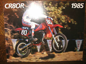 1985 HONDA CR80R NOS OEM DEALER'S SALES LITERATURE BROCHURE CR 80 R 85