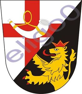 1x STICKER Landkreis Cochem-Zell coat of arms GERMANY