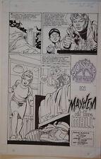 GIL KANE original art, MONSTER IN MY POCKET #4, 11x17,1991, Mayhem at the Mall