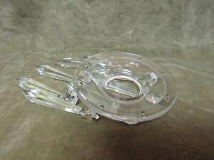 Vintage 1930's Fostoria glass Clear Round Bobeche w/Prisms George Sakier 2484