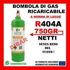 GAS REFRIGERANTE R404A DA 1 KG NETTO 750 GRAMMI