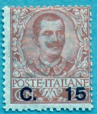 1905 Italia Regno Floreale Soprastampato 15 c su 20 c arancio Cat Bolaffi n.136