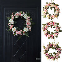 Floral Artificial Rose Wreath Door Hanging Wall Window Decoration Wreath Cheap