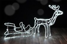 Rentier Schlitten 432 LEDs Lichterkette innen + außen Weihnachtsbeleuchtung Deko