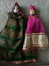 Hand Painted  Rajasthani Wooden marionette/Hand puppets from India