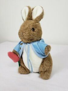 "Eden Toys Peter Rabbit 10"" Plush Vintage Brown Bunny Stuffed Animal Toy"