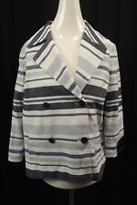 NEW Banana Republic Womens Jacket Coat sz S Small Blazer Suit Blue Linen NWT